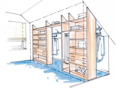 dressglider in der dachschr ge. Black Bedroom Furniture Sets. Home Design Ideas