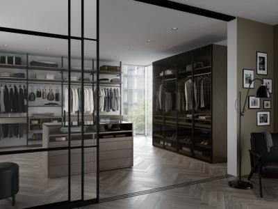 begehbarer schrank. Black Bedroom Furniture Sets. Home Design Ideas